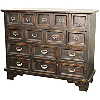New Pacific Direct Tuscany Chest with 15 Drawers,Fully Assembled
