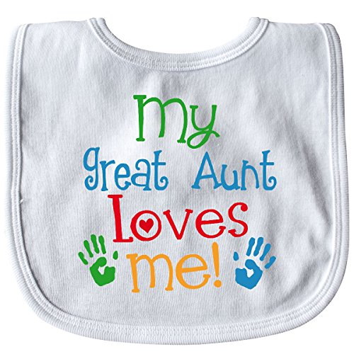 Inktastic - My Great Aunt Loves Me Gift Baby Bib White 2fc0a