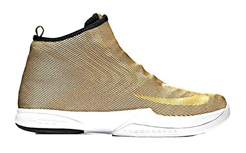 (Nike Zoom Kobe icon JCRD Mens hi top Trainers 819858 Sneakers Shoes (US 10, Metallic Gold Black White 700))