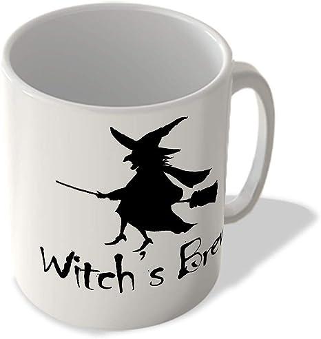 SKL_062 carcasa, tazas de noche de brujas, brevaje de bruja - taza de desayuno con carcasa fun tazas taza: Amazon.es: Hogar