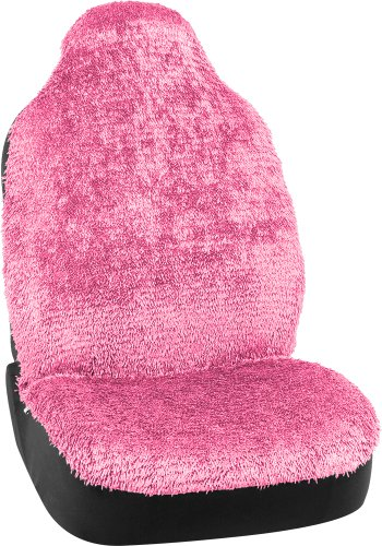 Bell Automotive 22-1-56872-9 Universal Shiny Shaggy Bucket Seat Cover, Pink (Pink Shaggy Car Accessories compare prices)