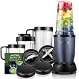 AICOOK Blender for Shakes and Smoothies, 15-Piece High Speed Blender/Mixer System Including Free Recipes, Professional Blender for Ice Crushing Frozen Fruits, Dishwasher Safe, 780W