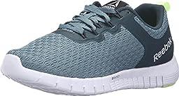 Reebok Women\'s Zquick Lite Walking Shoe, Teal Dust/Forest Grey/White/Lemon Zest, 5 M US