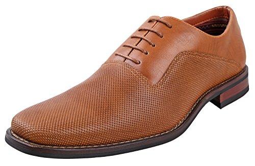 Ferro Aldo Mens lalo Oxford Dress Shoes   Comfortable Dress Shoes   Formal   Lace-Up   Classic Design  Light Brown 10.5