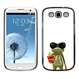 LASTONE PHONE CASE / Slim Protector Hard Shell Cover Case for Samsung Galaxy S3 I9300 / Cool Sun Shades Sunglasses Frog White Drink