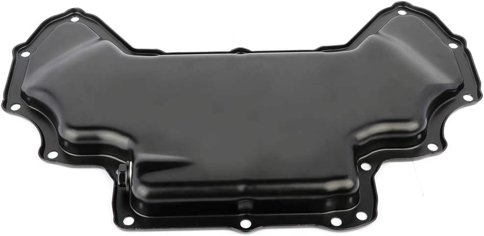 TUPARTS Engine Oil Pan for M-ercedes-Benz C230 C250 C280 CLK550 CLS550 E350 E550 SL550 SLK280 05 06 07 08 09 10 11 12 Engine Oil Drain Pan 2.5L 3.0L with OE 2720100128 Oil Drip Pan Oil Change Pan