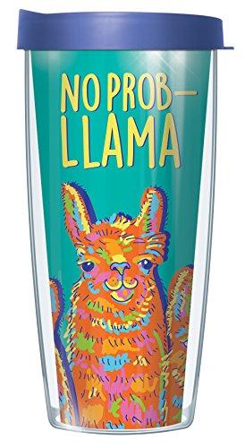 No Prob-Llama 16oz Mug Tumbler Cup with Blue Lid