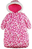 Pink Platinum Baby Girls Snowsuit Carbag Floral Camo Winter Puffer Bunting Pram, Pink, 3-6 Months