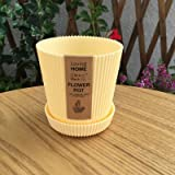 Labu Store Multicolored Circle Flower Plant Pots/Planters with Saucer Pallet