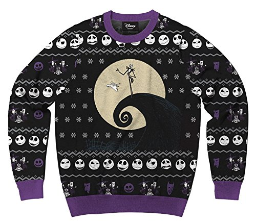 Men's Disney Nightmare Before Christmas Jack Faces Ugly Sweatshirt