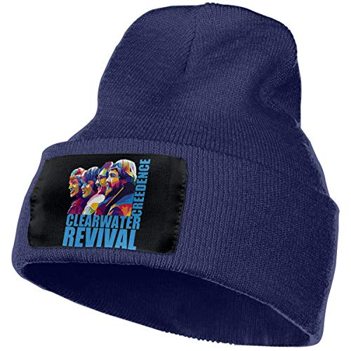 SmallHan Mens & Womens Creedence Clearwater Revival Skull Beanie Hats Winter Knitted Caps Soft Warm Ski Hat Navy