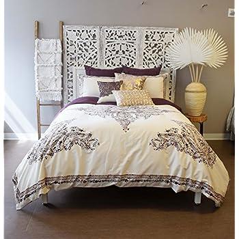 Blissliving Home Blissliving Marrakesh Bahia Palace Duvet Set  King,Burgundy,King