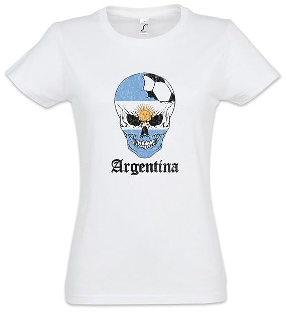 Urban Backwoods Argentina Football Skull I Mujer Girlie Women T-Shirt Tamaños XS – 2XL