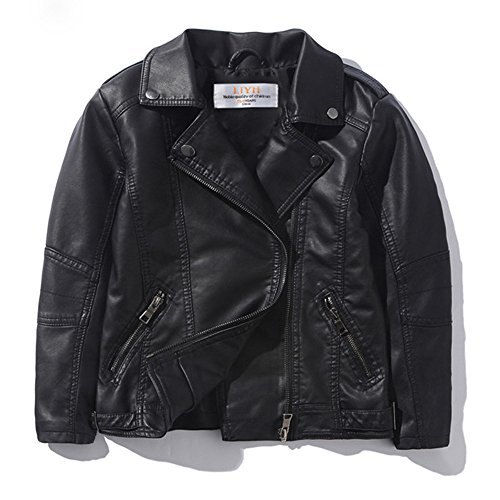 LJYH Children's Collar Motorcycle Faux Leather Coat Boys Leather Jacket