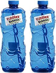 "Little Kids Fubbles Premium Long Lasting Bubble Solution, Assorted Colors, 64 oz (""""."
