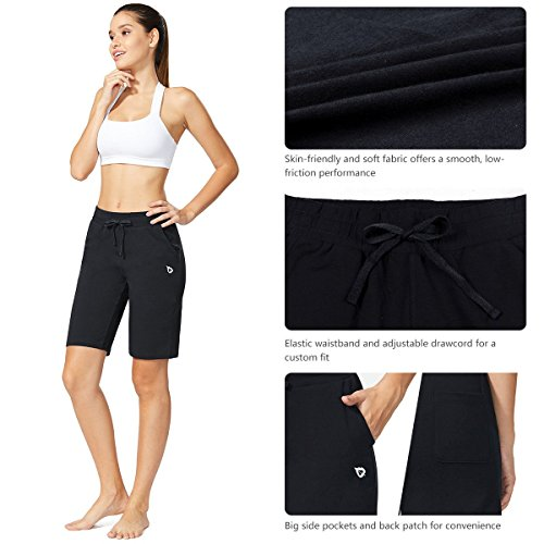 Baleaf Women's Active Yoga Lounge Bermuda Shorts with Pockets Black Size L by Baleaf (Image #5)