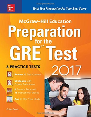 McGraw-Hill Education Preparation for the GRE Test 2017 3rd Edition