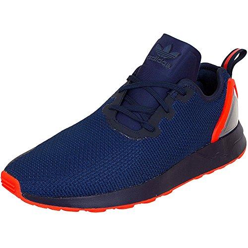 adidas Originals ZX FLUX ADV ASYMETRICAL Zapatillas Sneakers Azul Naranja para Hombre