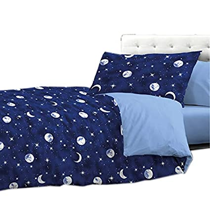 Trapunta Invernale Letto Singolo.Biancheria Store Trapunta Invernale Singola Luna Cosmo Stelle 1