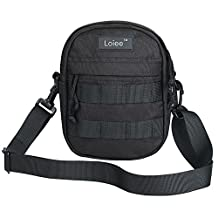 Loiee Mini Nylon Messenger Bag,Samll Vintage Shoulder Bag Casual School Sling Bag Crossbody Bag for Men Women