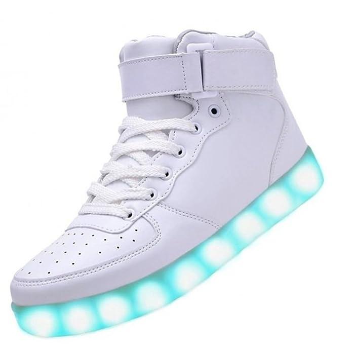 [Present:kleines Handtuch]Schwarz 39 Licht Light Schuhe Blinkende Led Freizeit Farbwechsel Damen High Sport Leuchtende mAOaROuk