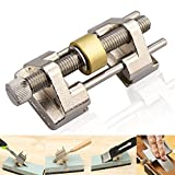 Honing Guide, BonyTek Stainless Steel Side Clamping Fixed Angle Honing Guide with Brass Roller for Wood Chisel, Planer, Blade, Graver, Flat Chisel Edge Sharpening, Clamping Width Range 0.32-3.22 Inch