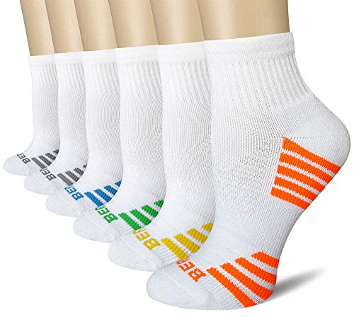 BERING Women's Quarter Compression Athletic Socks (6 Pairs)