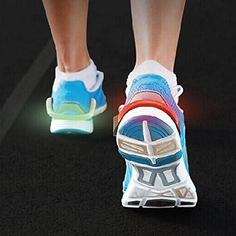 Nubstoer 1Pair Running Lights LED Shoe Clips Light Rainproof Led Safety Shoe Light with 2 Modes Night Orange