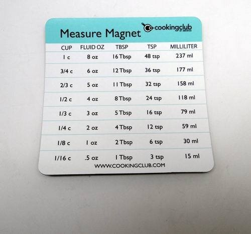 Cooking Club Of America Measure Conversion Magnet [1200 Pieces] - Product Description - Cooking Club Of America Measure Conversion Magnet. A Convenient Cooking Conversion Magnet To Keep Handy On Your Fridge. Measure: 3.5 Inch X 3.5 Inch Conversi ... by DDI