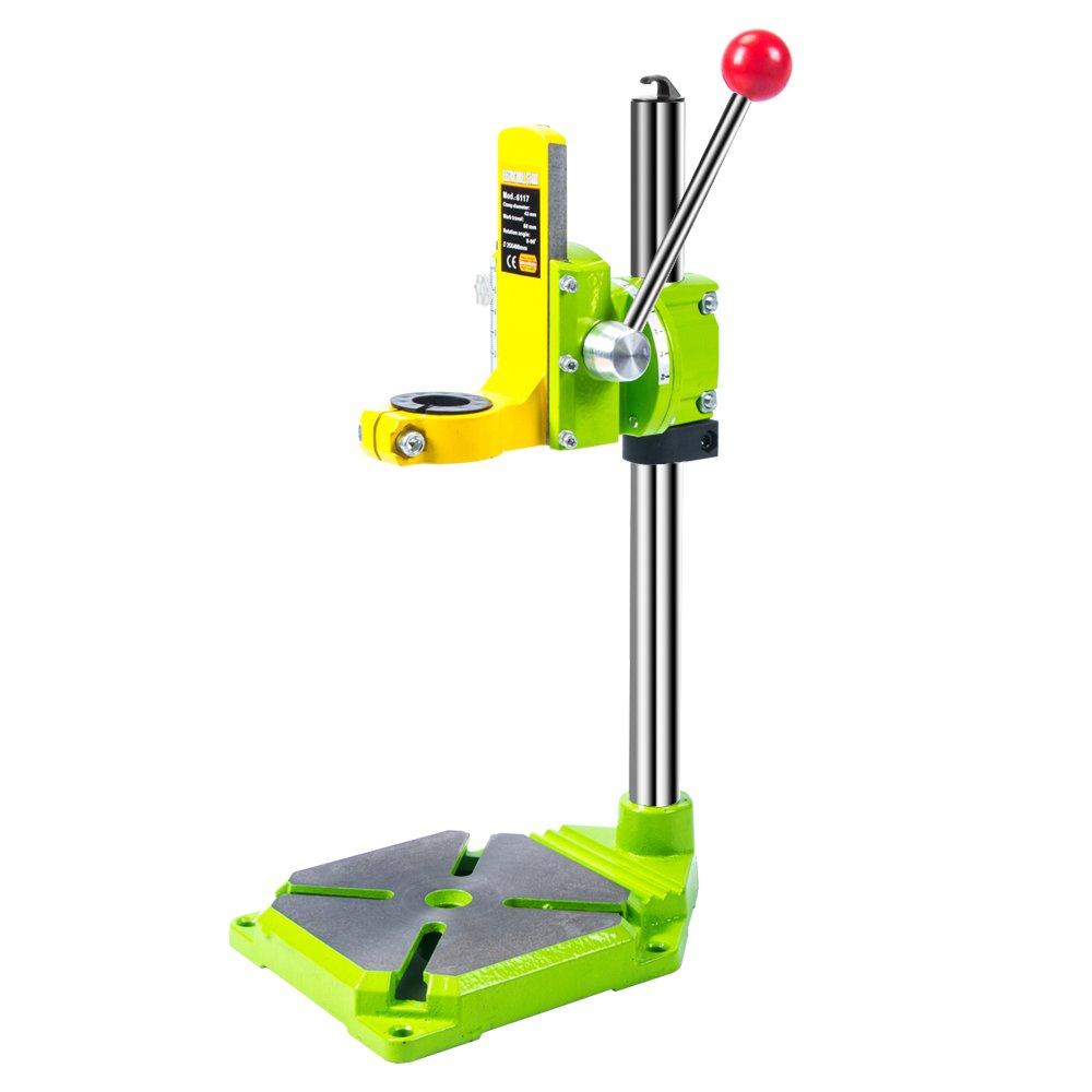 AMYAMY Floor Drill Press / Rotary Tool Workstation Drill Press Work Station / Stand Table for Drill Workbench Repair ,drill Press Table ,Table Top Drill Press90° Rotating Fixed Frame