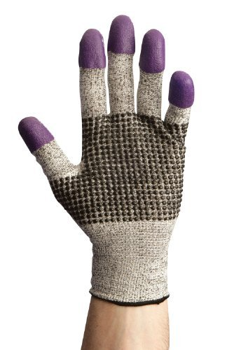 Jackson Safety G60 Nitrile Glove, Cut Resistant, Purple Nitrile Fingertips, 9.842 Length, Size 10 (Pack of 24) by Jackson Safety