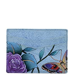 Anuschka Women's Genuine Leather Credit Card Case | Hand Painted Original Artwork