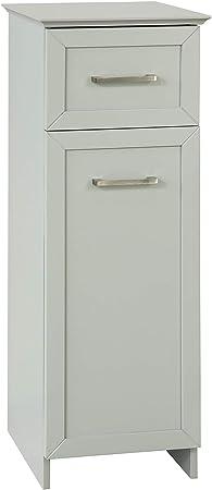 SoBuy Mobile alto Colonna bagno salvasapzio con cassetto e armadietto L30*P29*A164 cm BZR09-HG