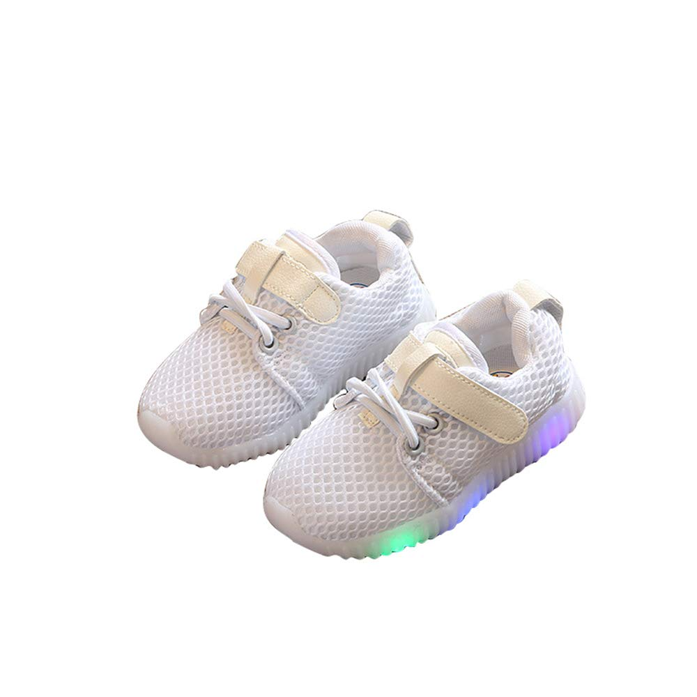 Kids LED Light Up Shoes Casual Mesh Breathable Sneakers for Boys Girls Luminous Shoes