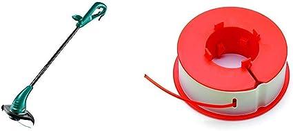 Bosch 06008A5000 Cortabordes (cable 280 W, 240 V), Negro, Verde, 23 cm + Bosch F016800175 Bobina de Hilo, Naranja, Blanco, Amarillo, 8mx1.6mm