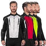 Viking Cycle Textile Warlock Biker Mesh Motorcycle CE Armor Jacket for Men Silver