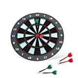 16 Inch Dartboard Dart Game Set with 6 Soft Rubber Tips Darts