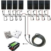 ECO-WORTHY 1300W 24v Off Grid Tie Complete Solar Panel Kit: 8pcs 160W Mono Solar Panels+45A Charge Controller+Solar Cable+MC4 Branch Connectors Pair+Z Bracket Mounts