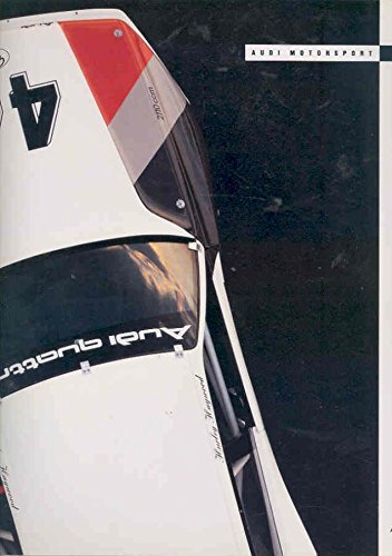 1990 Audi 200 Turbo Quattro Trans Am Race Car Brochure