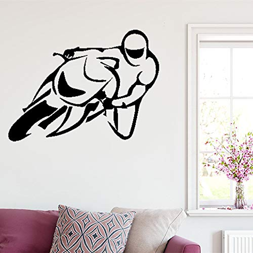 Wall Stickers Vinyl Words Sayings Removable Lettering Bike Motorcycle Biker Rock Extreme Sport for Living Room ()