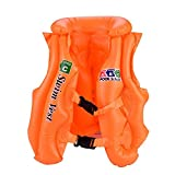 Children Life Vest, Portable Bright Color PVC Swimming Safety Jackets for Boating Fishing Drifting