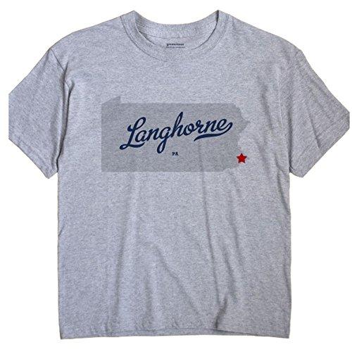 Langhorne Pennsylvania PA MAP GreatCitees Unisex Souvenir T - Map Pa Langhorne