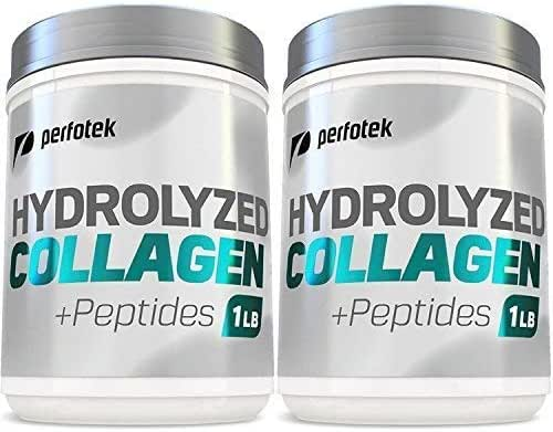 Collagen Peptides Hydrolyzed Powder 16 oz (Pack of 2) Non-GMO Grass-Fed Gluten-Free Kosher Unflavored - Easy to Mix Drink - Premium Beef Collagen Powder 1 Pound Each