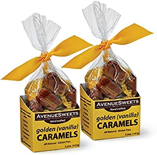 product image for AvenueSweets - Handcrafted Individually Wrapped Soft Caramels - 2 x 5.2 oz Boxes (Golden (Vanilla))