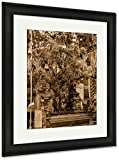 Ashley Framed Prints Colorful Tree In Tirta Empul Temple Bali Indonesia, Wall Art Home Decoration, Sepia, 30x26 (frame size), Black Frame, AG6549367