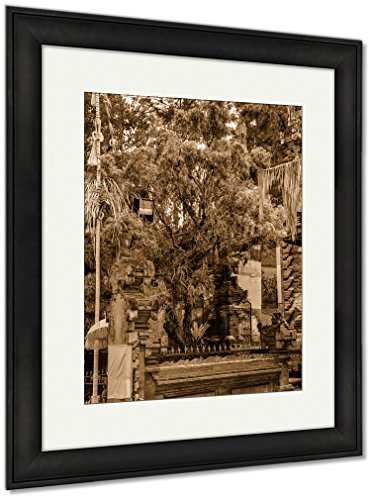 Ashley Framed Prints Colorful Tree In Tirta Empul Temple Bali Indonesia, Wall Art Home Decoration, Sepia, 30x26 (frame size), Black Frame, AG6549367 by Ashley Framed Prints
