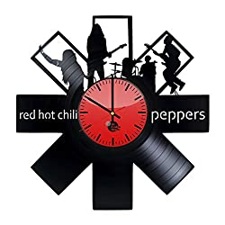 Red Hot Chili Peppers Rock Band Handmade Vinyl Record Wall Clock Fun gift Vin...
