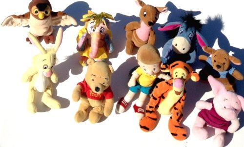 - Winnie the Pooh 10 Piece Bean Bag Set