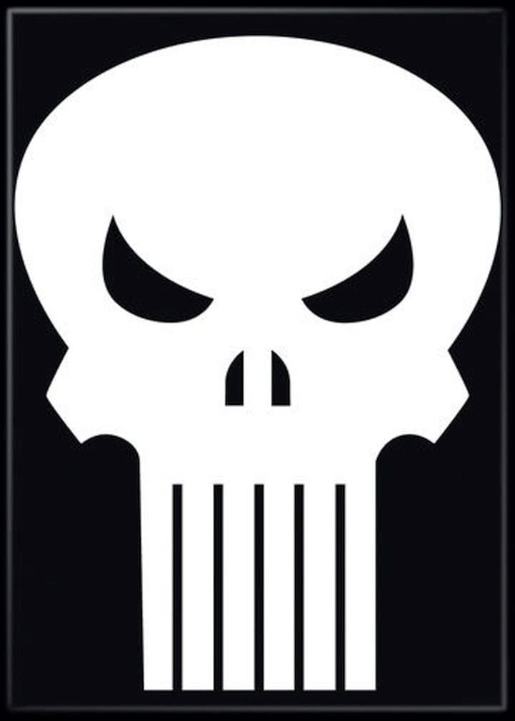 "Ata-Boy Marvel Comics Punisher Logo 2.5"" x 3.5"" Magnet for Refrigerators and Lockers"