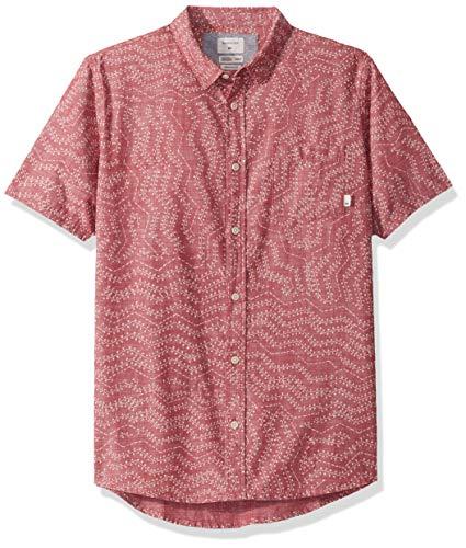 Quiksilver Men's Short Sleeve Woven TOP, Garnet